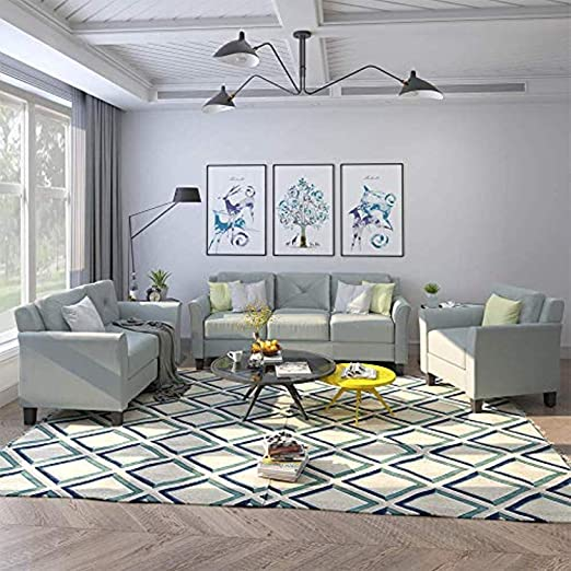 Amazon.com: MOOSENG, 3 Pieces Living Room Furniture Set ...