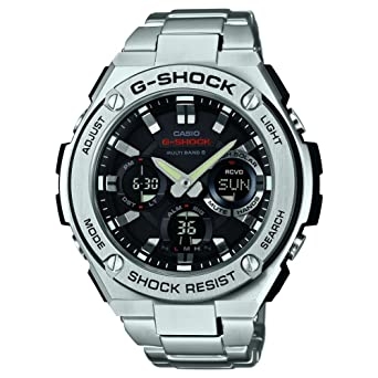 Casio Quartz Bracelet En Gst Inoxydable – W110d Avec Acier 1aer Homme Analogiquedigitale Montre dBeroCx