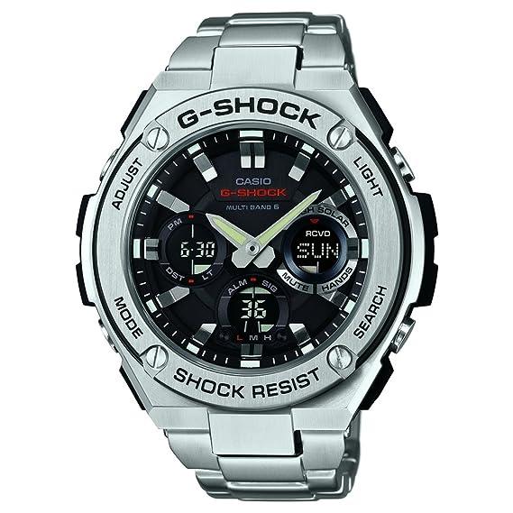 Casio Reloj Analógico-Digital para Hombre Correa en Acero Inoxidable GST-W110D-1AER