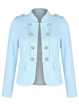 4677d231f8dd Danaest Damen Military Blazer mit Innenfutter (508),40   L, Farbe ...