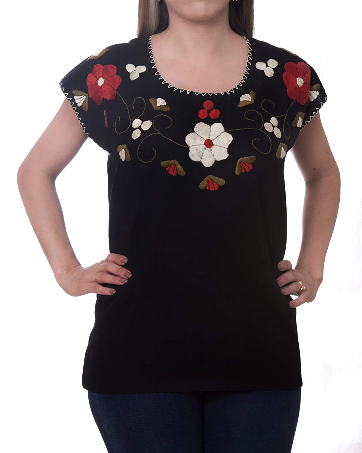 216fae4d2ed ... blouse has a traditional Mexican design that will give you an authentic  look so you can look truly impressive. The floral tunic shirt is very  beautiful ...
