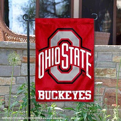 WinCraft NCAA Ohio State University Buckeyes 12.5 x 18 Inch 2-Sided Garden Flag Logo