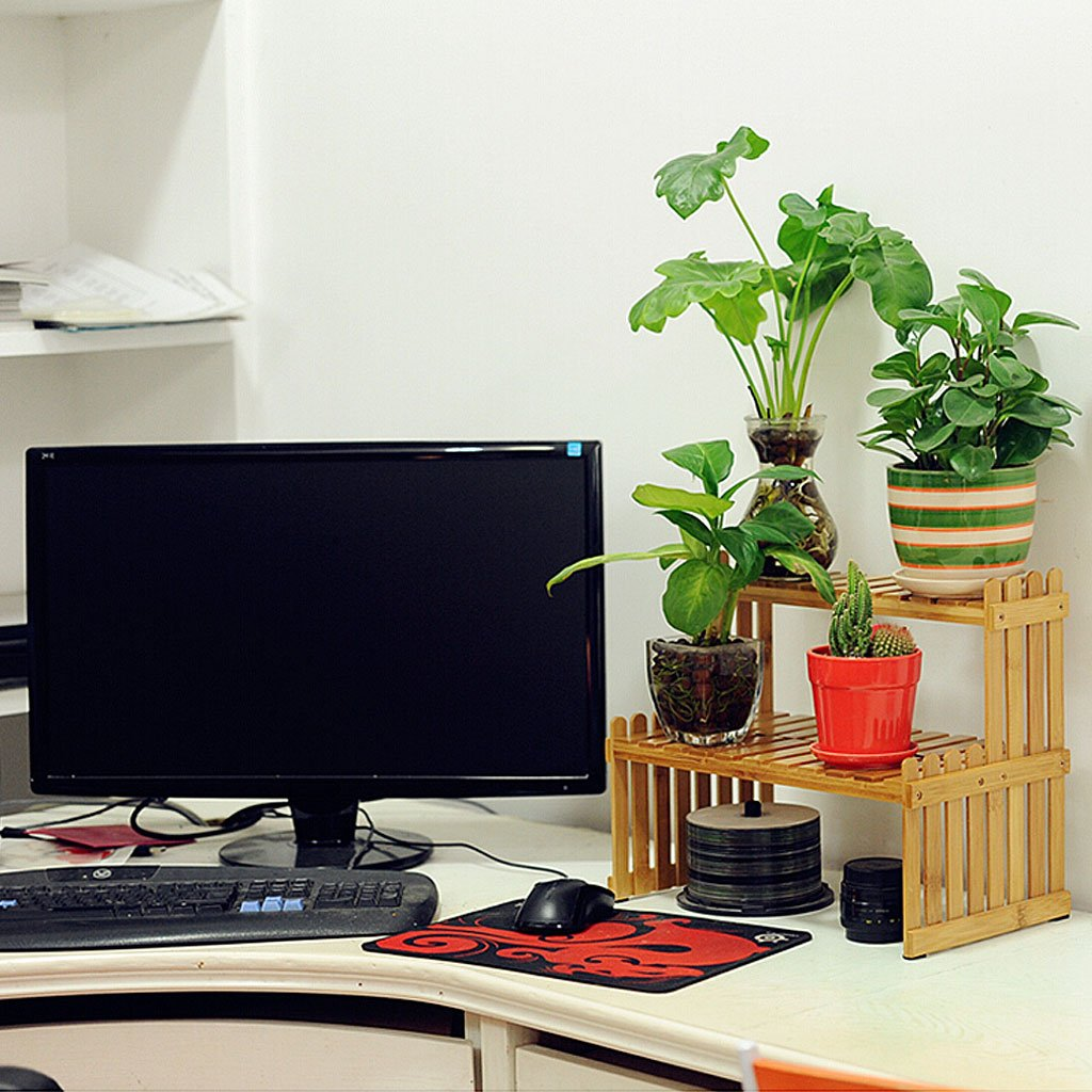 Solid Wood Flower Stand Suitable For Living Room Balcony Computer Desk | 3 Size (Size : 262130cm) by TY BEI (Image #8)