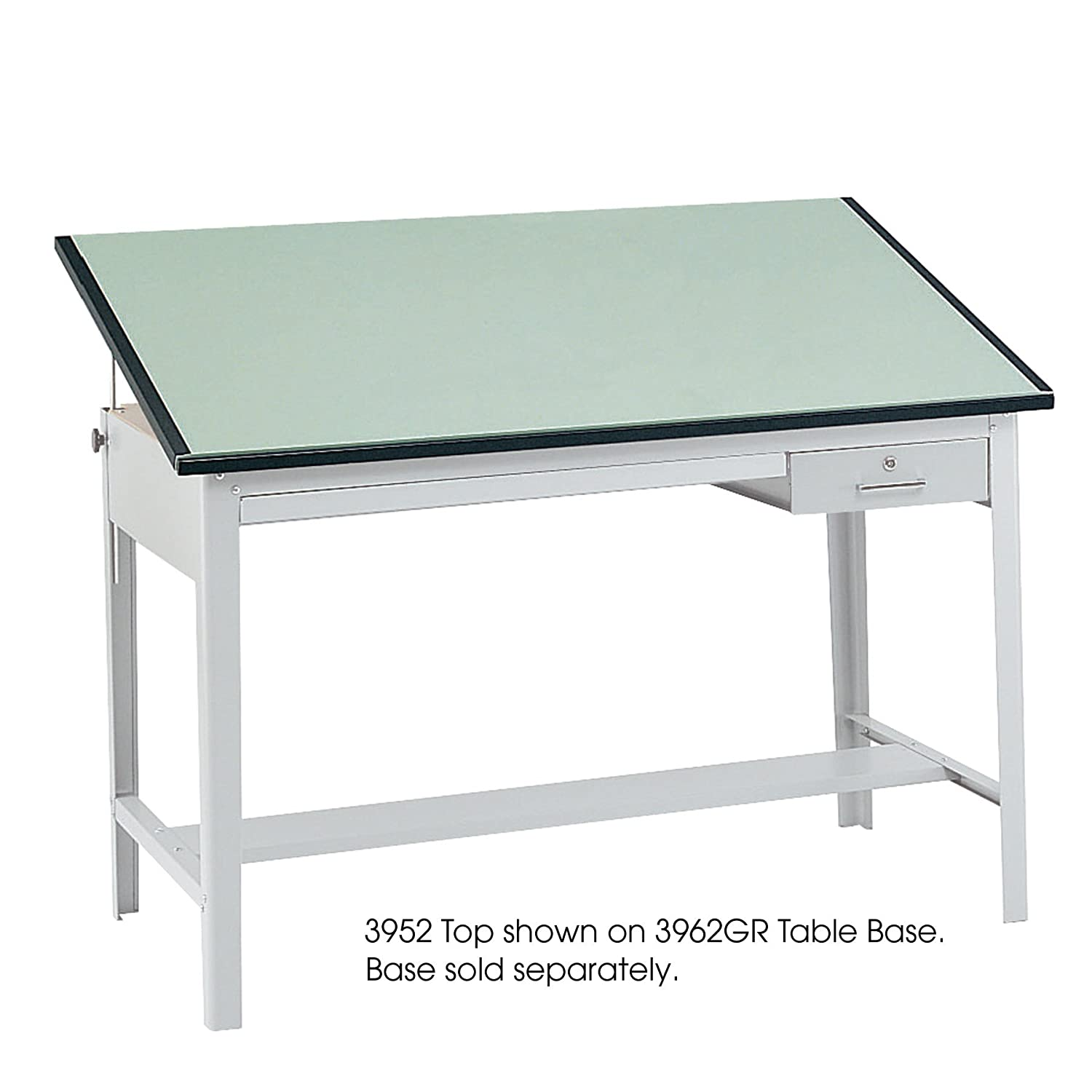 Drafting table dimensions - Amazon Com Safco Products 3953 Precision Table Top 72 W X 37 1 2 D For Use With 3962gr Table Base Sold Separately Green Kitchen Dining