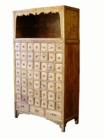 Authentic Antique Chinese Apothecary Cabinet, Cypress Wood, Circa 1750-1800 - Amazon.com : Authentic Antique Chinese Apothecary Cabinet, Cypress