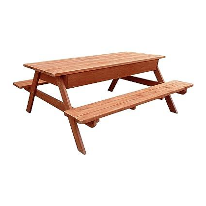 Astonishing Amazon Com Leisure Season Pts7129 Picnic Table With Bench Machost Co Dining Chair Design Ideas Machostcouk