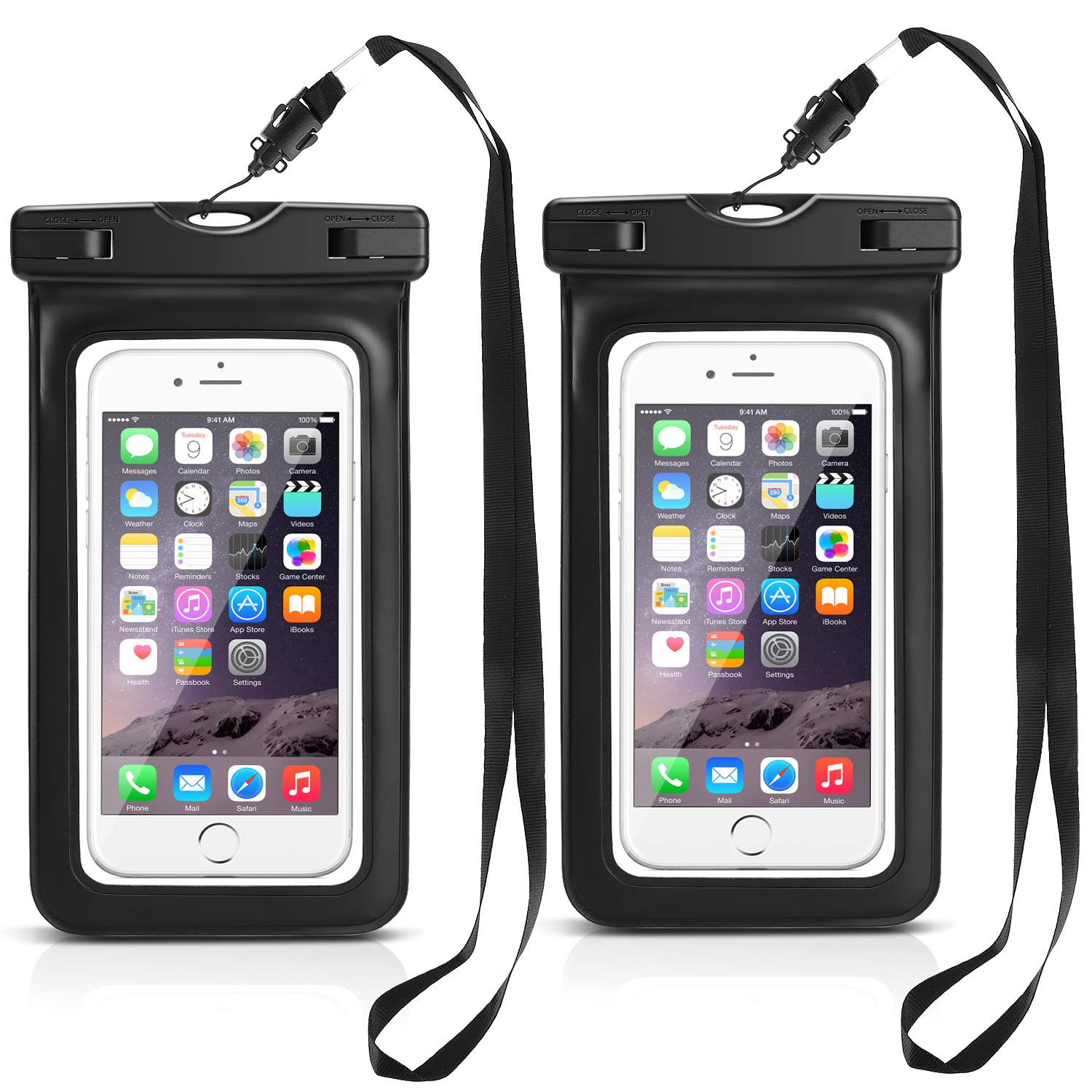 low cost 09b1e f7cb5 PEYOU Waterproof Phone Case, 2 Pack Universal IPX8 Waterproof Cell Phone  Dry Bag Pouch for Apple iPhone Xs/Xs Max/X/8/8 Plus/7/7 Plus/6S/6,  Compatible ...