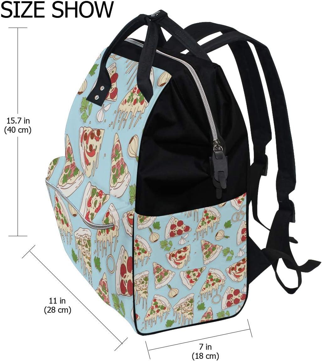 FANTAZIO Mummy Bag Backpack Pizza Pattern School Bag