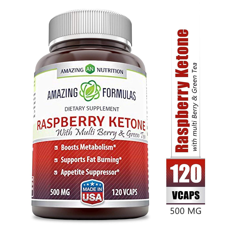 Amazon.com: Amazing fórmulas de frambuesa Ketone – 500 mg ...
