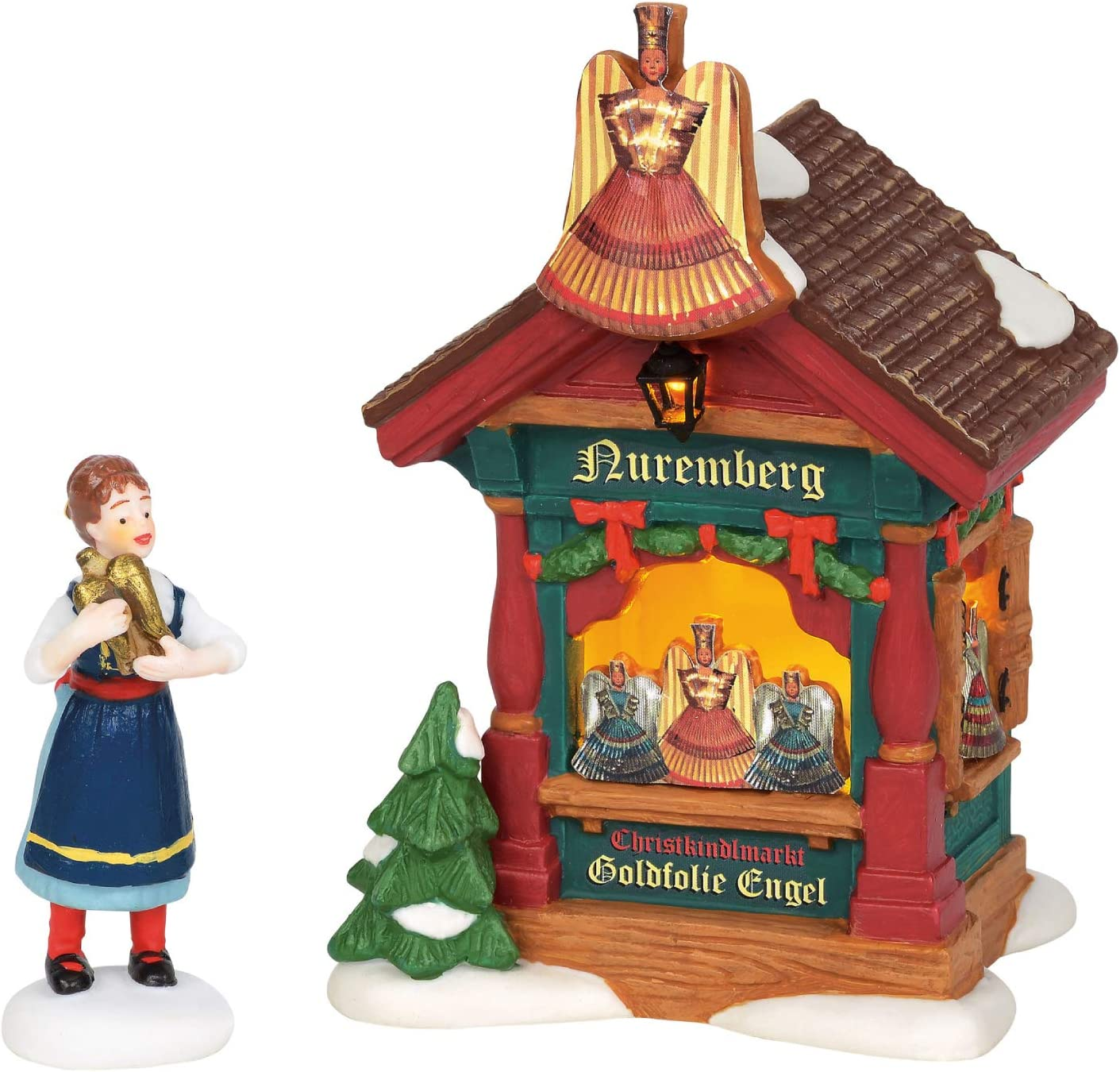 Multicolor Department 56 Holiday Yard Decor Figurine Village Accessory