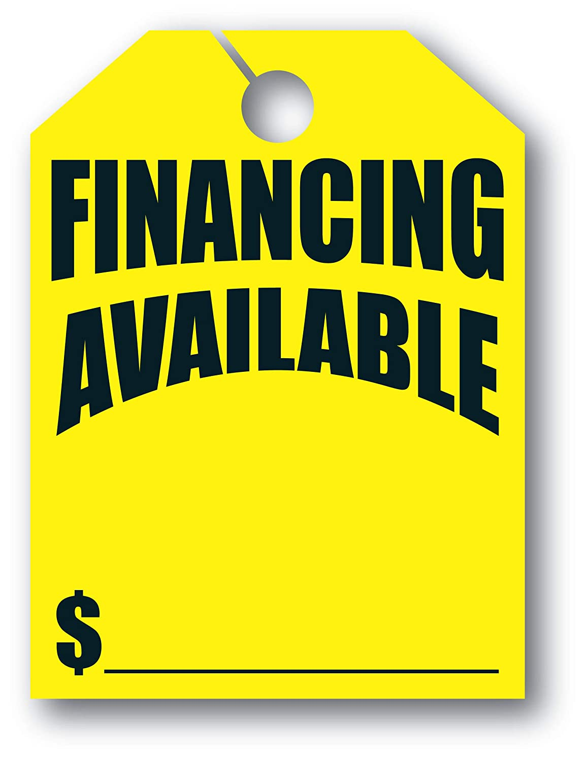 Pack of 50 Mirror Hang Tags 8 1//2ʺW x 11 1//2ʺL Fl Yellow -Financing Available