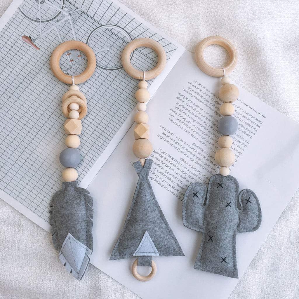 jouet sensoriel pour chambre denfant blanc cadre de gym Youliy Jouet /à suspendre pour b/éb/é