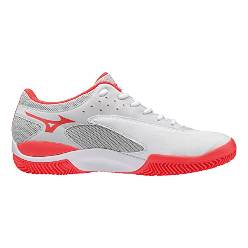 Mizuno Wave Flash CC, Zapatillas de Tenis para Mujer, Blanco (White/Dark