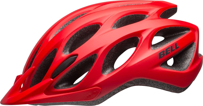 BELL Tracker - Casco de Ciclismo, Color Rojo y Negro Mate: Amazon ...
