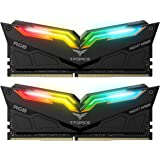 High Performance TeamGroup Night Hawk RGB Black, 16GB (2 x 8GB) DDR4-3000 MHz Desktop Memory RAM, Timing CL16-18-18-38, Voltage 1.35V