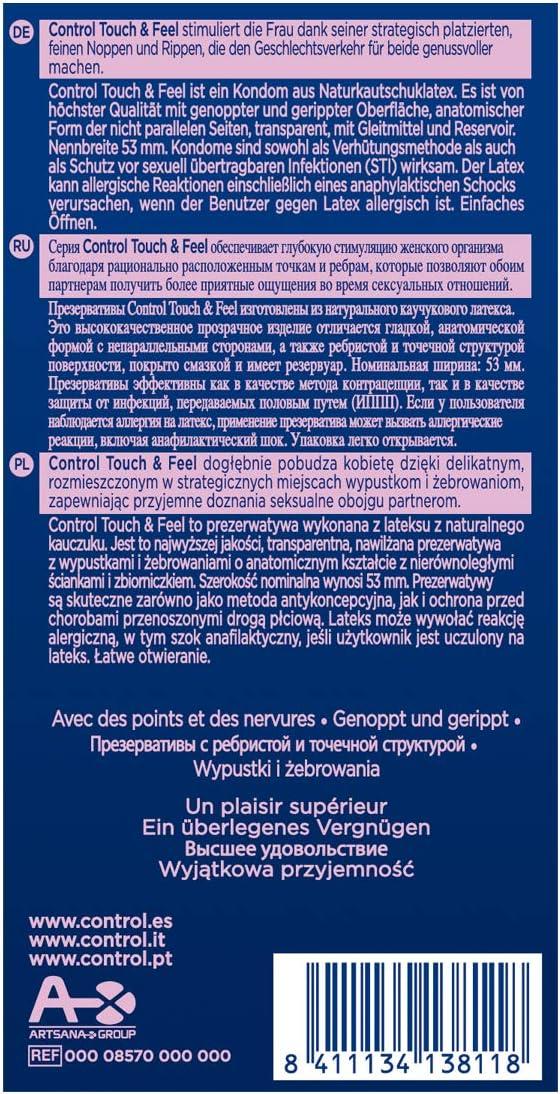 71sYNR8yKnL._AC_SL1200_ Control Sensual Dot&lines Preservativos - Caja de Condones con Puntos y Estrías, 24 Unidades (Pack Ahorro):: Salud y cuidado personal