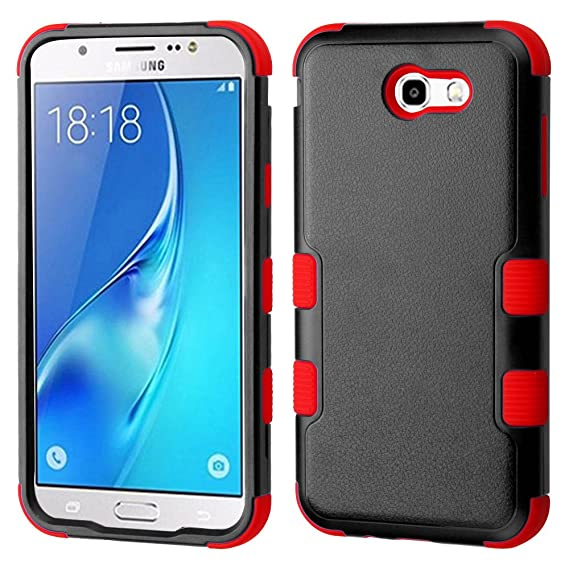 new arrival 66490 170a1 Samsung Galaxy J7 V Case - Shockproof [TUFF Series] [Military Grade  Certified] Impact Resilient [Drop Protection] Heavy Duty Hard-Shell Hybrid  Inner ...