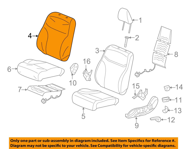 Front Honda Genuine 04815-TR3-V50ZC Seat Trim Cover Set Left