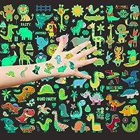 Aoligei 20 Hojas Tatuajes Temporales para niños, Luminoso Tatuajes temporales Falso Tatuajes Pegatinas, Animal…