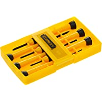 Stanley Bi-Material Precision Screwdriver Set, Stht66052-8, 6 Pieces