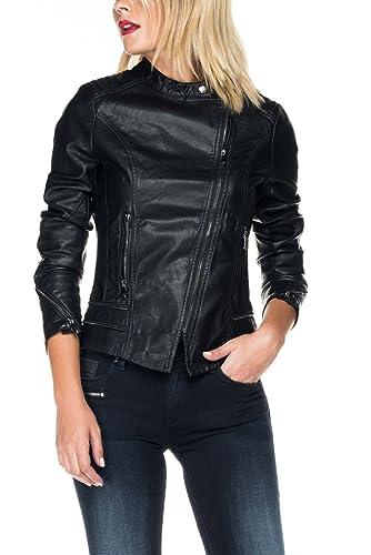 SALSA Biker jacket de piel sintética