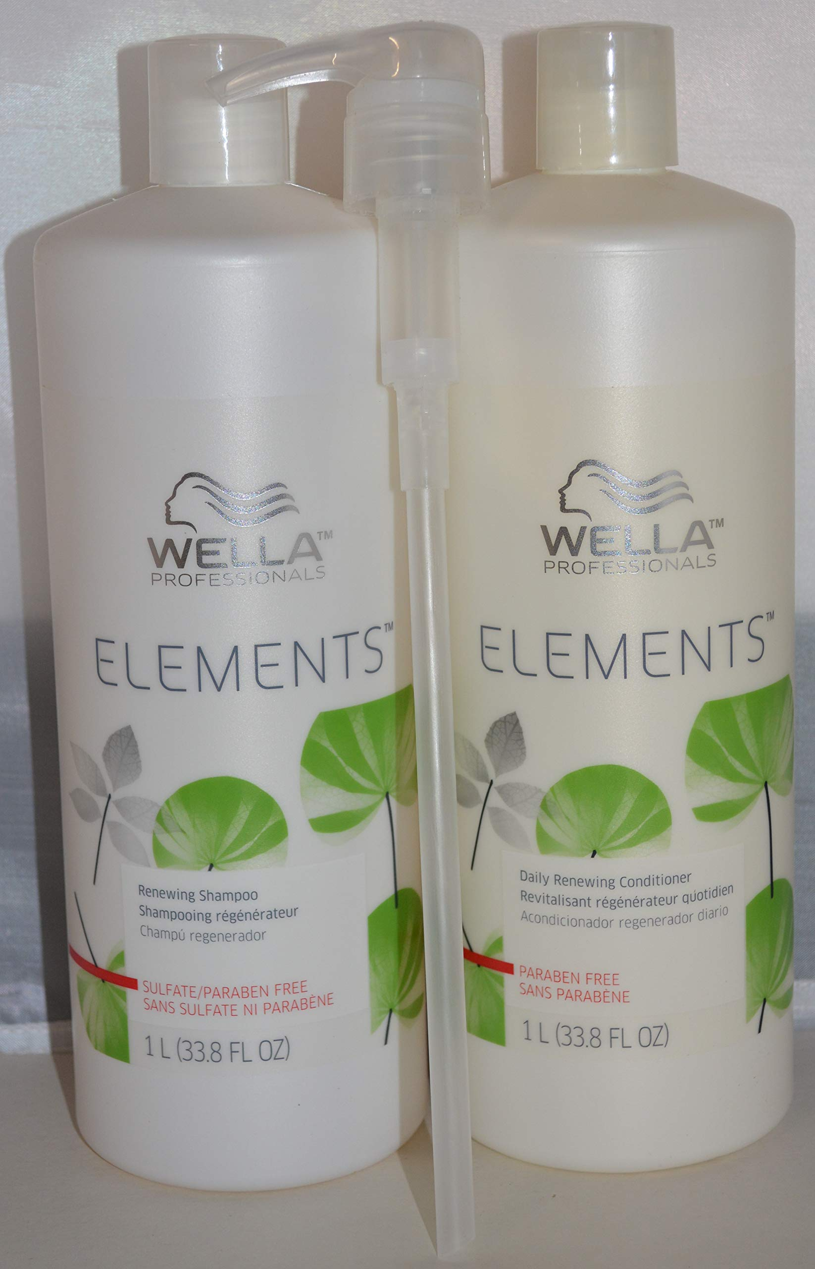 Wella Professionals Elements Renewing Shampoo & Conditioner 33.8oz (2 pack) Includes 1 Pump by Generic