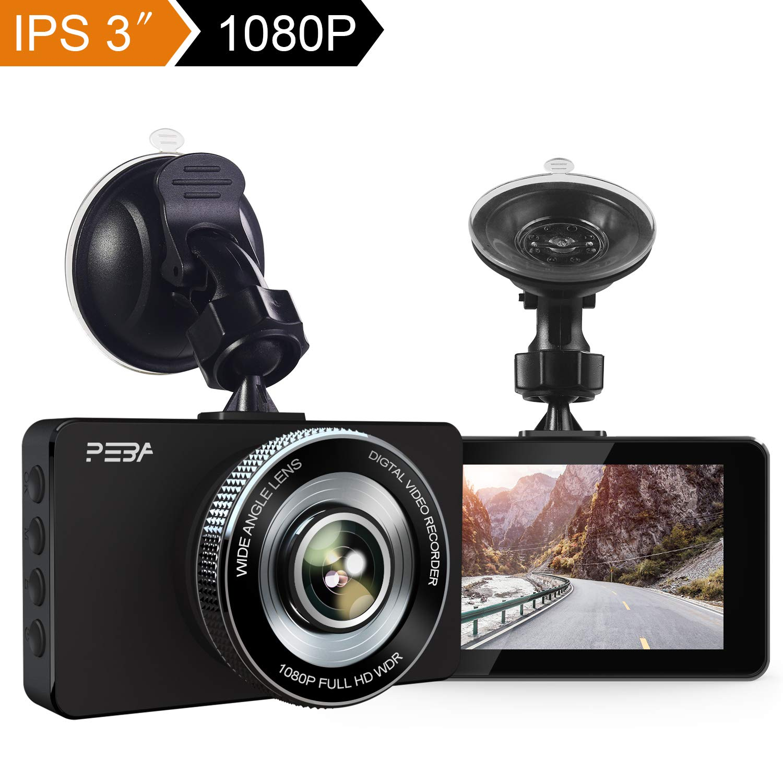 Parking Monitor G-Sensor 3 IPS Screen 170/° Wide Angle PEBA Dashboard Dashcams with Night Version Dual Dash Cam Front and Rear Full HD 1080P Car Camera Loop-recording