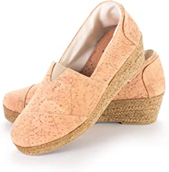 Vegan Natural Cork Platform Alpargata Made in Portugal Beige