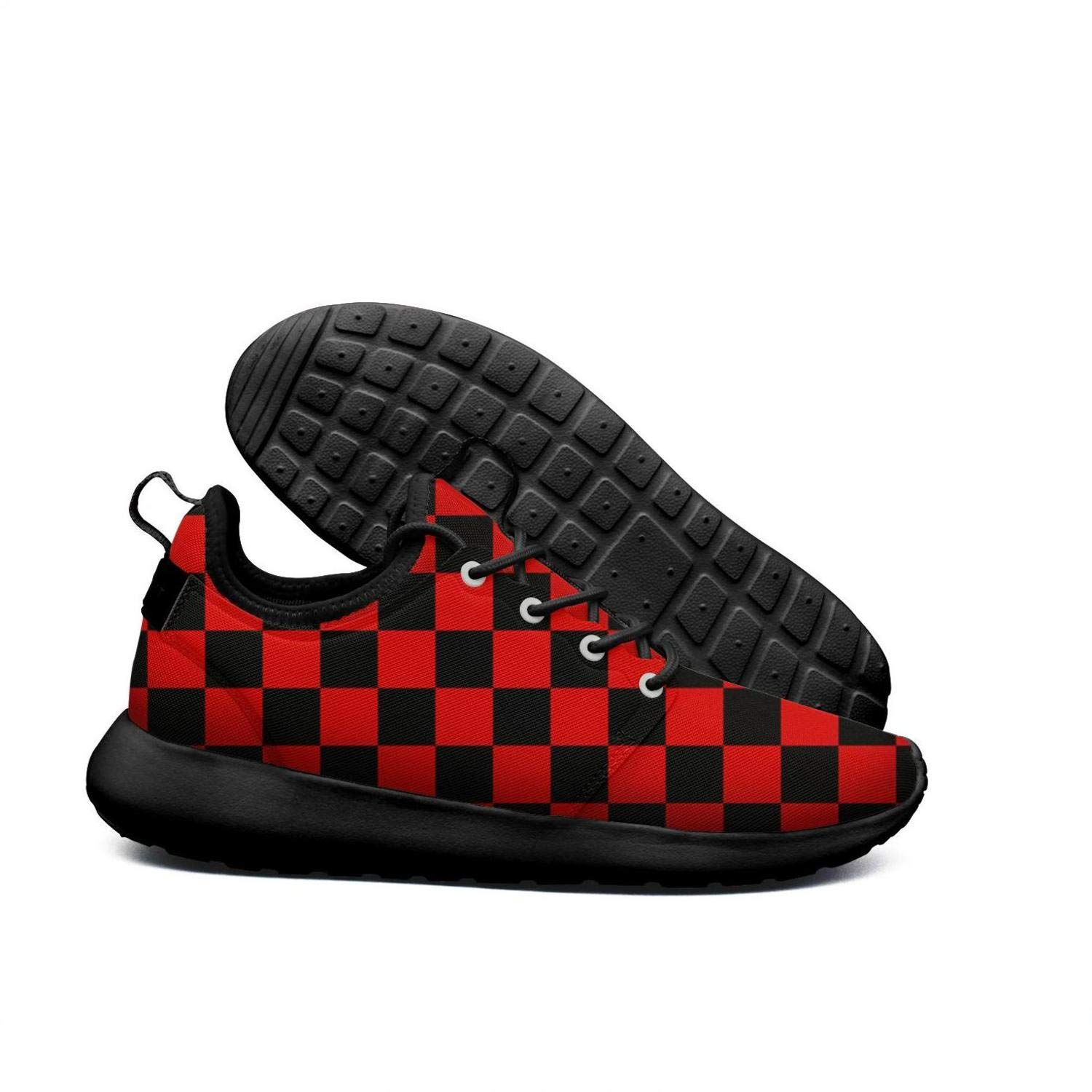 633c277bfcdac Amazon.com : xcvrf4i Black red Checkered Squares Checker Fashion ...