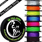 Flames N Games ULTRA-SPIN Pro Ficelle Diabolo 10m Corde / Ficelle pour baguettes de diabolo - Prix par bobine. (10m UV Jaune/Noir)
