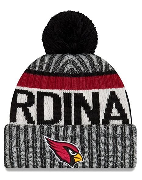 50dc74d7866a25 Amazon.com : New Era NFL Arizona Cardinals Adult Men Cold Weather Reverse  Team Sport Knit Beanie, OSFA, Black : Clothing