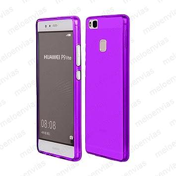 Meloenvias Funda Carcasa para Huawei P9 Lite Gel TPU Liso Mate Color Morado