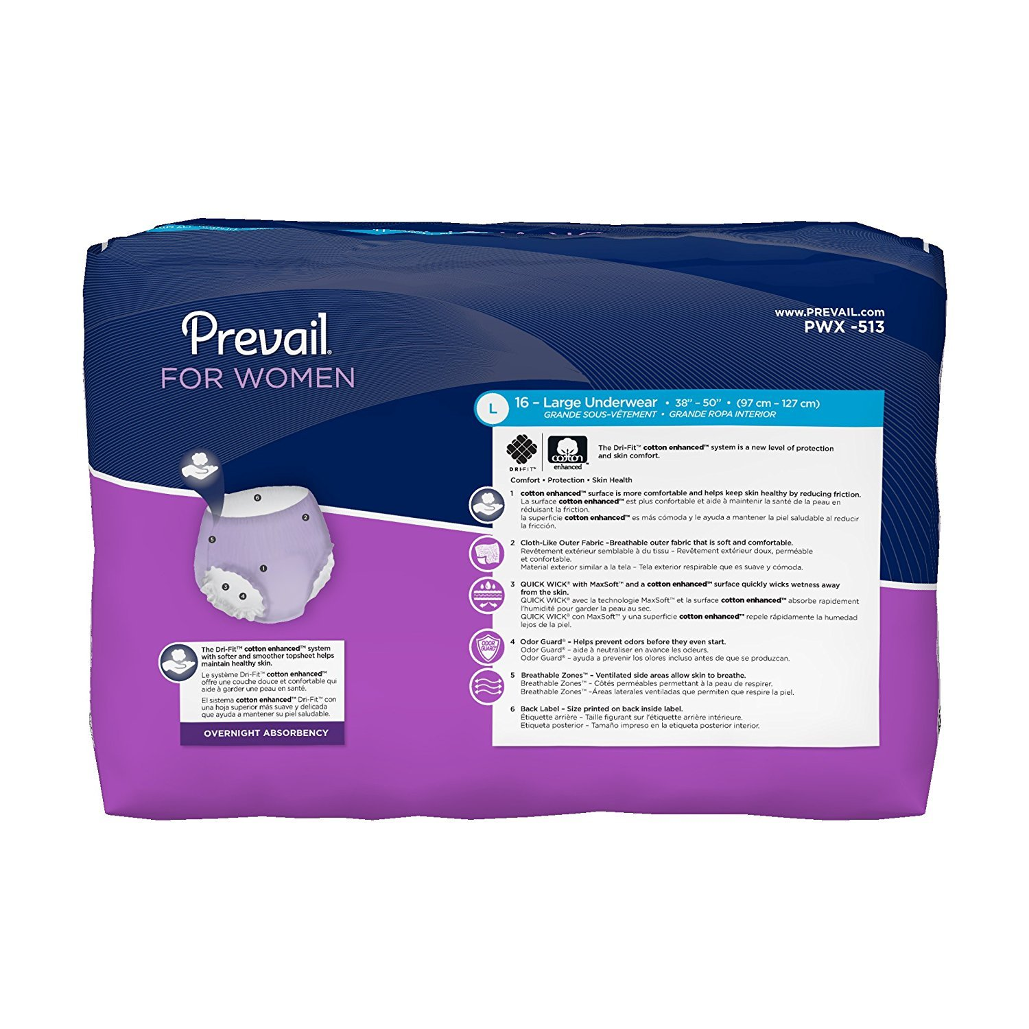 Amazon.com: Prevail Overnight Absorbency Incontinence Underwear for Women, Small/Medium, 72 Count: Health & Personal Care