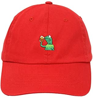 e2e12c7ae6a Kermit The Frog Dad Hat Cap Sipping Sips Drinking Tea Champion ...