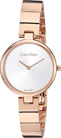 Calvin Klein Womens Authentic Watch - K8G23646 Silver Rose Gold One Size b61a70ed48f