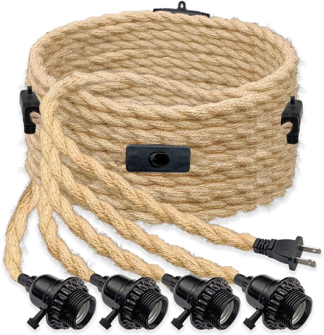 Pendant Light Cord Kit Four Lamp Socket