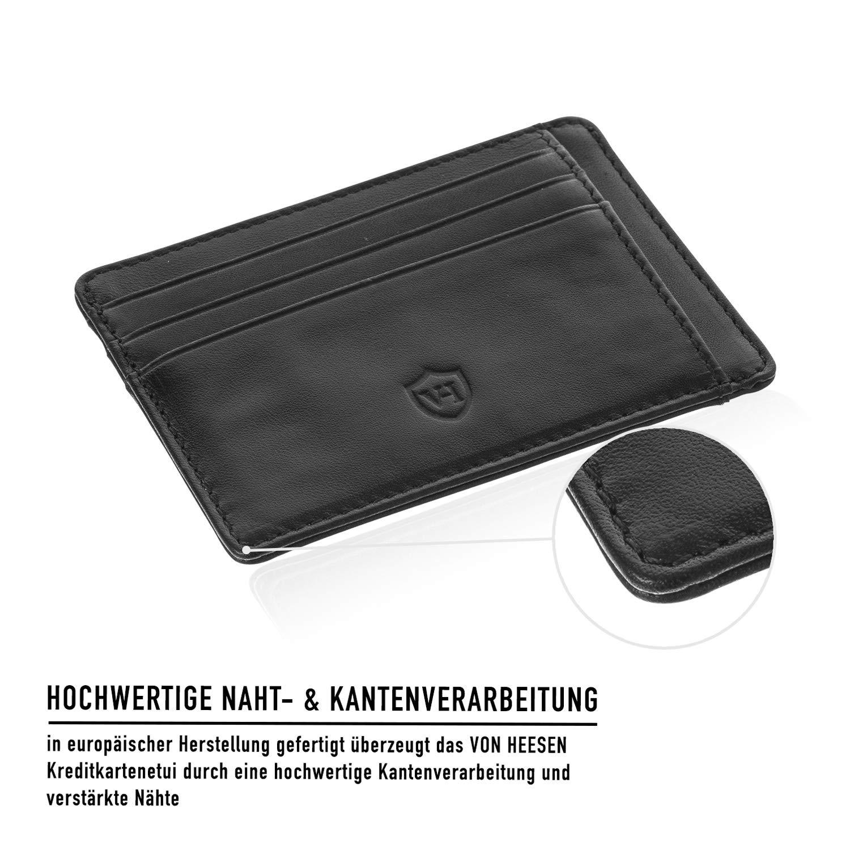 0d41534de7956 ... RFID-Schutz Geldbörse Herren Leder Schwarz Kreditkartenetui Portemonnaie  Brieftasche größeres Bild