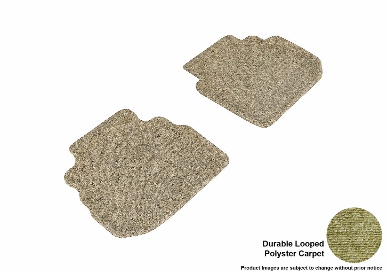 3D MAXpider Front Row Custom Fit Floor Mat for Select Infiniti M35 Models Tan Classic Carpet