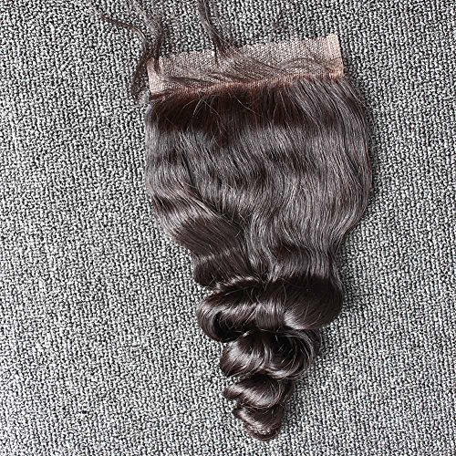 "Sent Hair 4x4 Loose Wave Lace Closure Human Hair Free Part with Baby Hair Brazilian Virgin Hair Closure Bleached Knots Natural Color 20"" -  Qingdao Sent Hair Products Co.,Ltd., LW-LC-F20"