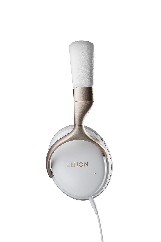 Denon AH-GC25NC Premium Wired Noise-Cancelling Headphones | White