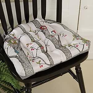 Birdhouse & Flowers Chair Pad