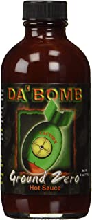 product image for Da Bomb - Ground Zero - Original Hot Sauce - 321,900 Scovilles - 4oz Bottle - Made in USA with Habanero Peppers- Non-GMO, Gluten Free, Sugar Free, Keto - Pack of 1
