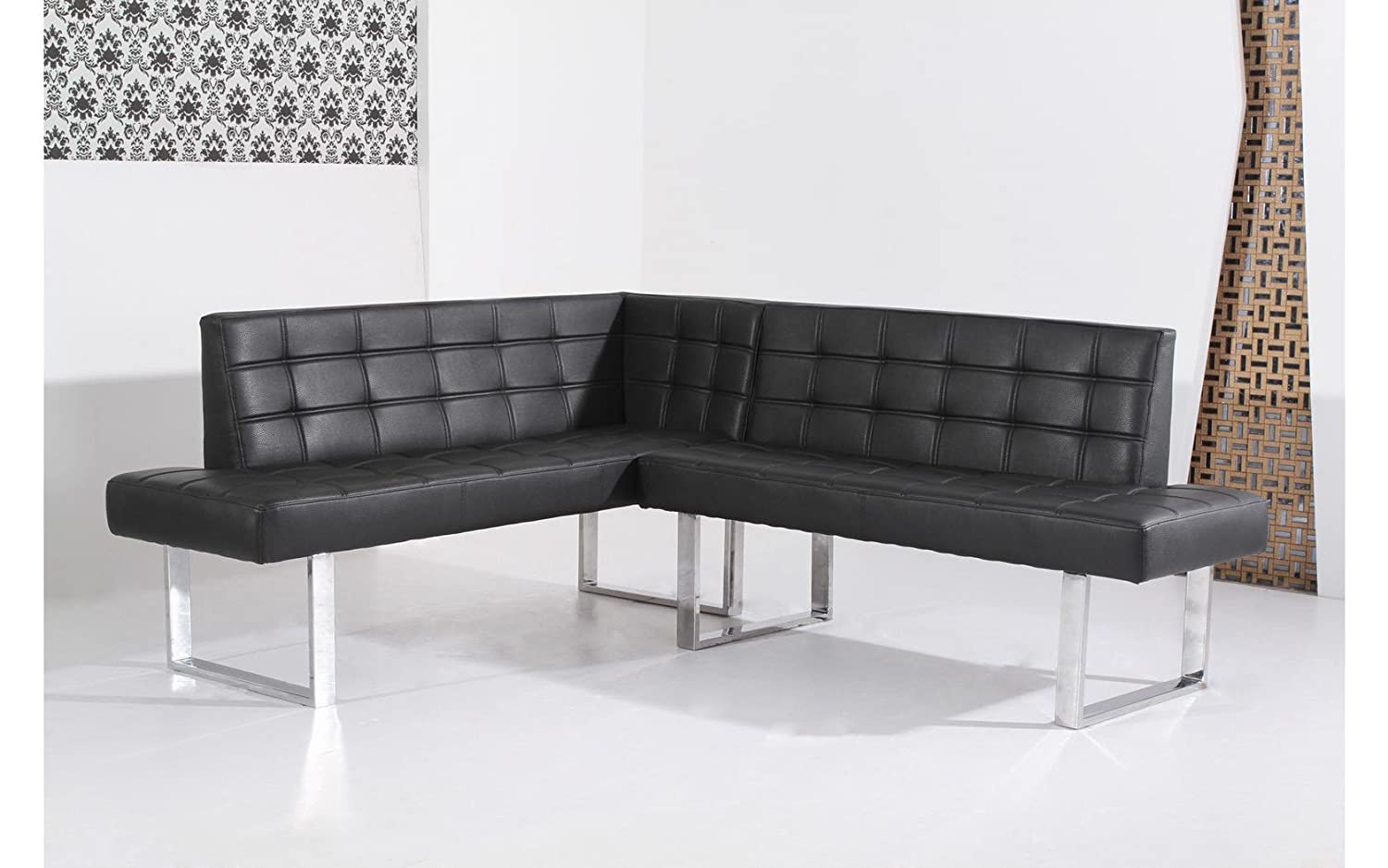 stunning banquette angle droit coinrepas cuir synthtique. Black Bedroom Furniture Sets. Home Design Ideas