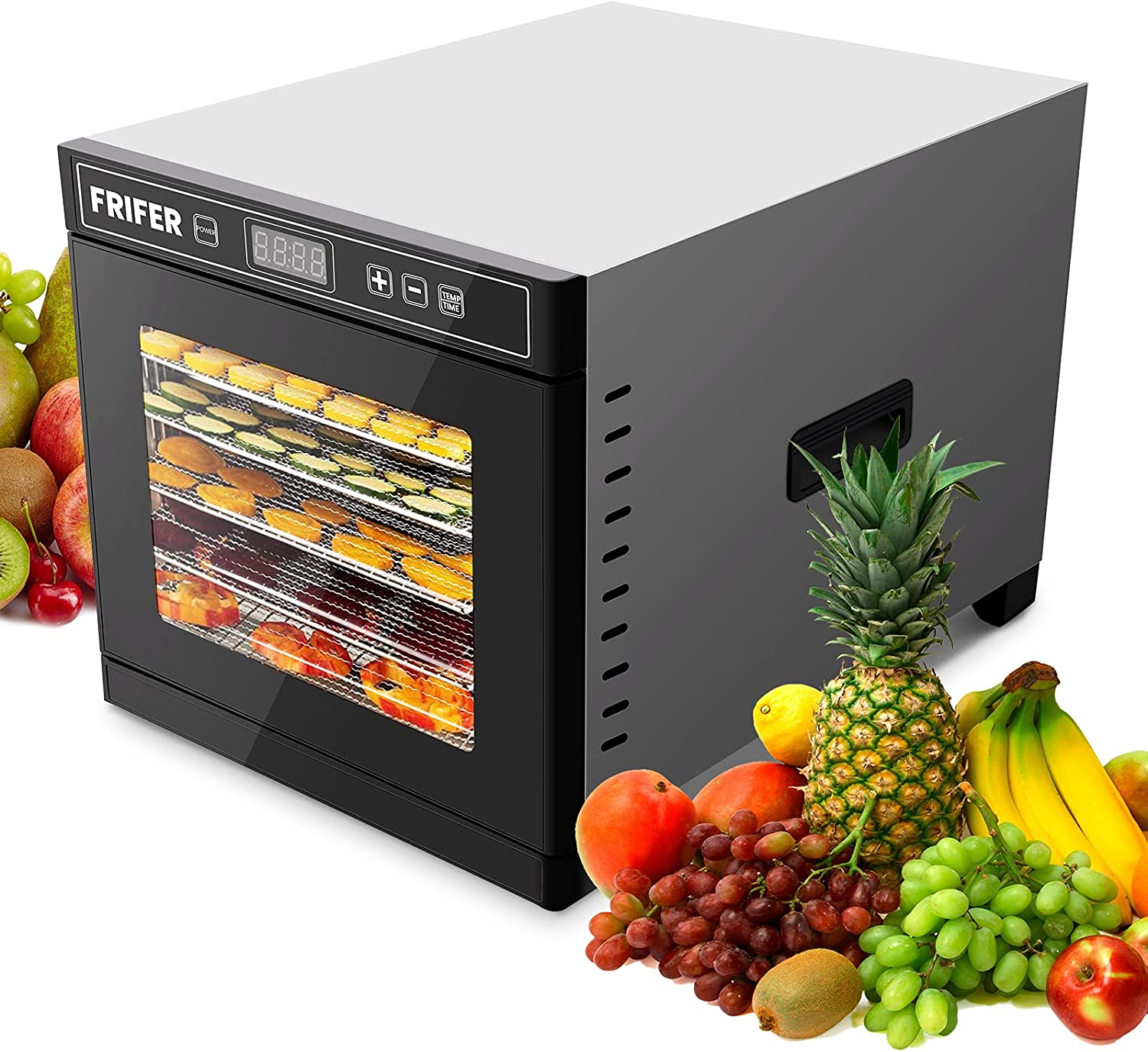 Frifer Food Dehydrator Machine Touch Panel with Timer and Thermostat Control   Commercial Dehydrator Machine   Better for Drying Fruit, Meat and Vegetables