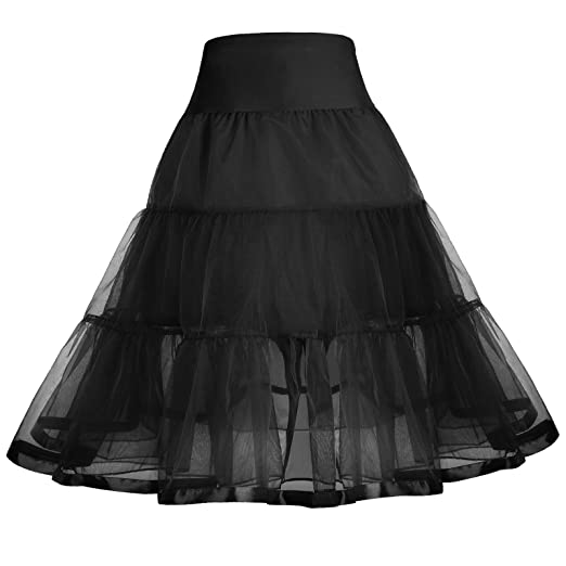 b9c96b559 Black Vintage Petticoat Skirts Crinoline Swing Underskirts 4-6 yrs 460-1