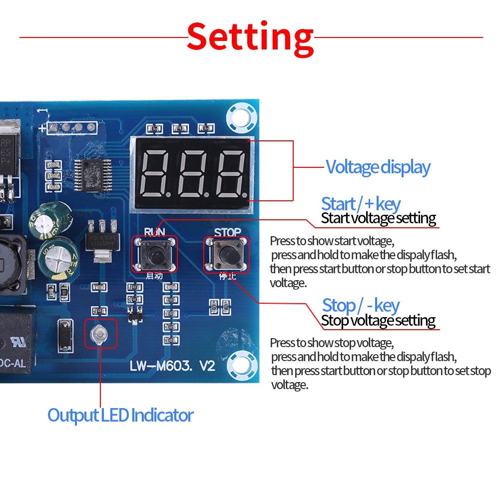 12V-24V Speicher-Lithium-Batterie-Ladekarte mit Schutz-Ladeger/ät-Schalter-Modul