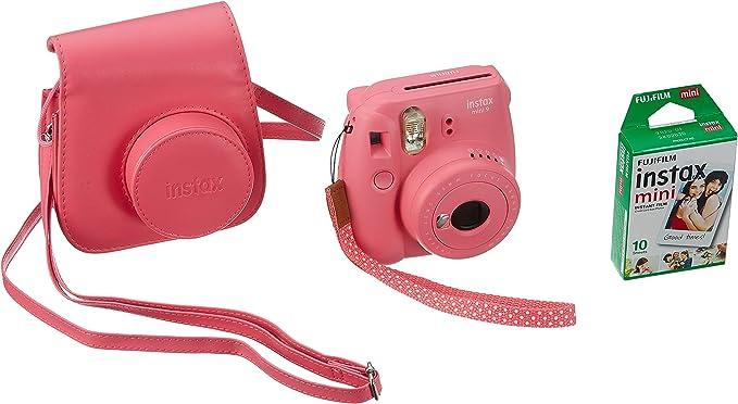 Fujifilm 70100140260 Pack Descubrimiento Instax Mini 9 con película Instax Mini 10 Fundas Rosa/Azul/Blanco: Amazon.es: Electrónica