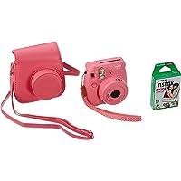 Fujifilm 70100140260 Pack Découverte Instax Mini 9 avec Film Instax Mini 10 Vues Rose/Bleu/Blanc