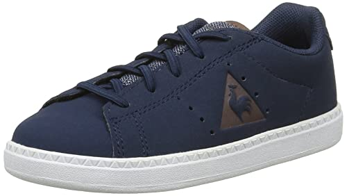Le Coq Sportif Courtone Inf Craft, Baskets Basses Mixte Enfant, Bleu (Dress  Blue