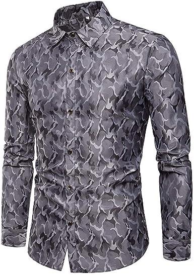 Hupoop - Camisa de Manga Larga para Hombre, diseño de Rayas ...